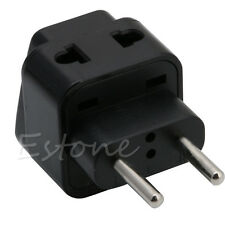 Universal UK/US/EU/AU to EU Travel Power Adapter Plug Easy Converter Black