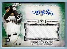 JUNG-HO KANG 2015 TRIPLE THREADS GAME WORN JERSEY AUTOGRAPH AUTO /50