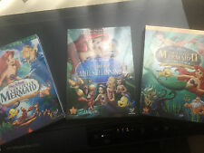 The Little Mermaid Trilogy Includes all 3 Disney DVD Bundle Free Shipping