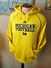 Adidas Michigan Wolverines Football Sweatshirt Hoodie L Climawarm NICE! Sewn