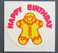Vintage TREND Matte Scratch and Sniff Stinky Stickers - GINGERBREAD (1979)