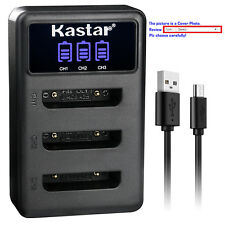 Kastar Battery Triple Charger for Fujifilm NP-45 NP-45A BC-45 Fuji FinePix JV200