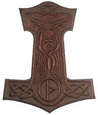 Mjolnir Thor's Hammer Embroidered Patch 10cm x 11cm