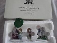 "Dept 56 Heritage Village: ""The Old Man Of The Sea"" Nib! 3 Pc Set! #5655-3"