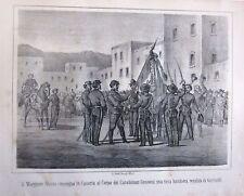 1862 CASERTA MAGGIORE MOSTO CARABINIERI GENOVESI litografia Terzaghi Garibaldi