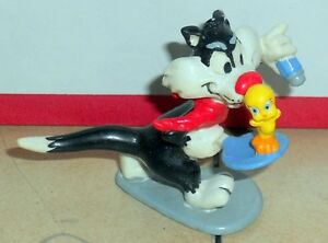 Vintage 80's  Warner Brothers Sylvester & Tweety Bird PVC Figure VHTF Rare