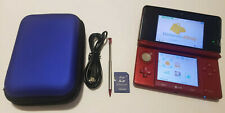 Nintendo 3DS Handheld System - Flame Red Bundle *Used* *Read Description*