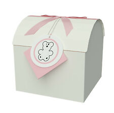 """Pink 6x6x6"""" M Treasure Chest Box - Toy & Gift Box - Paper Box with Lid - Boxes"""