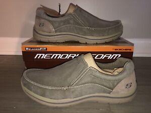 NEW Skechers Men's Size 13 Expected Avillo Khaki Slip On Casual Shoes 64109