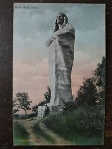 Black Hawk Statue, Oregon, IL - Early 1900s, Pic of Lorado Taft attached to Back