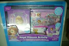 DISNEY JR~SOFIA THE FIRST~ROYAL PRINCESS ACTIVITY SET~VINYL BAG~100 PCS~NIP! 3+