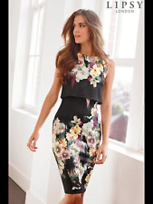 New with tags! Lipsy Floral Print Bodycon Dress Size 10