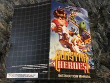 Color Custom Manual GUNSTAR HEROES SEGA Mega Drive PAL Version - AAA+++