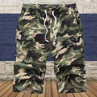 Men's Army Camouflage Shorts Casual Camo Cargo Military Combat Half Pants New