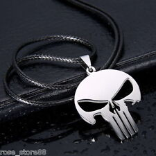 New Gift Unisex's Men Silver Stainless Steel Skull Head Pendant Necklace Chain