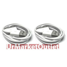 "2x 39"" White USB Data/Sync Power Cable for Apple iPhone 3 3GS 4 4S iPod Nano"