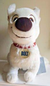 "Authentic Disney Store Exclusive RARE BOLT White Puppy Dog 14"" Stuffed Plush"
