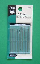 Dritz Crewel Hand Sewing Needles - Size 2 - 12 pack