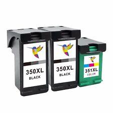 3x DRUCKER PATRONEN für HP 350+351 XL C4340 C4380 C4385 C4424 C4480 C4500 C4400