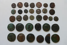 Lot 34 monnaies Antiques (essentiellement Romaines)