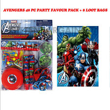 Bulk Avengers Birthday Supplies Party Favours 48 pcs Kit Boys Pack + Loot Bags