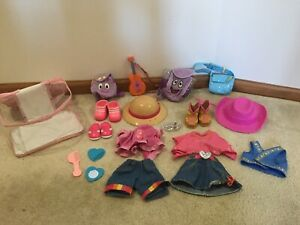 Lot of Dora The Explorer Clothes Hats Shoes Backpacks Hair Accessories Used