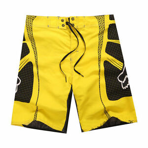 Men's FOX TECH Quick-Dry BoardShorts Yellow Sizes: 30 - 38
