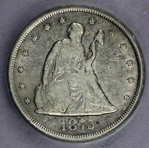 1875-CC 1875 Seated Liberty Twenty Cent ICG VF20