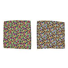 Lot of 2 Men's SANTOSTEFANO by Italo Ferretti Silk Pocket Square Handkerchief