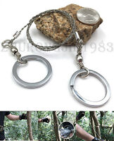 Portable Easy Carry Steel Wire Saw Emergency Camping Hunting Survival EDC Tool