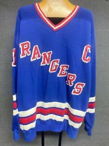 Vintage Starter MARK MESSIER #11 NY RANGERS Size XL Captain Sweatshirt Jersey