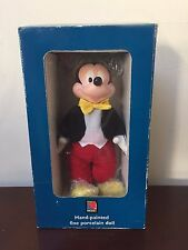 Kenleys Ltd Disney Mickey Mouse Hand Painted Porcelain Doll Collectible RARE