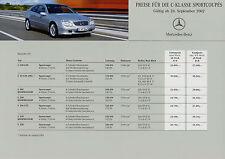 1085MB Mercedes C-Klasse Sportcoupe Preisliste 2002 26.9.02 203 C 320 230 K 200