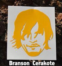 Walking Dead Daryl Stencil, High Heat Vinyl, Magazine Gun Firearm Cerakote