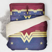 Wonder Woman Duvet Cover Set Twin/Full/Queen/King Size Bedding Set Pillowcase