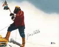JIM WHITTAKER SIGNED 8x10 PHOTO FIRST AMERICAN TO SUMMIT MT. EVERST BECKETT BAS