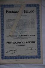 Eeklo  9900 Peignage d'Eecloo  3 parts sociales avec coupons 49 à 56