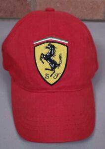 Vintage Ferrari Youth Baseball Hat Adjustable Cap  Red Strapback