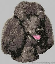 Large Embroidered Zippered Tote - Poodle DLE3835