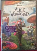 Alice in Wonderland DVD Disc Tim Burton Johnny Depp 2010 New Sealed Free Ship