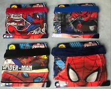 Genuine Marvel Spider Man Fleece Lined Neck Gaiter Scarf Set With Mask