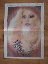 "VIVA GLAM MAC Cosmetics 2011 HUGE 15.5""x22"" LADY GAGA Newspaper AD Scarce"