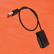 Black SATA Slimline to USB 2.0 Adapter Cable Laptop CD DVD Rom Drive 7+6 13Pin