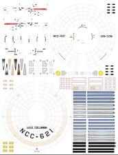 Columbia NCC-621 1/1000 Polar Lights Star Trek TOS enterprise model kit decals