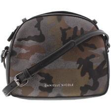 Danielle Nicole Carson Crossbody Dome Handbag, Metallic Camo Black Purse