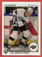 1990-91 Luc Robitaille Upper Deck 10 Card Lot French - Los Angeles Kings