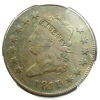 1811/0 Classic Liberty Head Large Cent 1C - PCGS Fine Details - Rare Date Coin!
