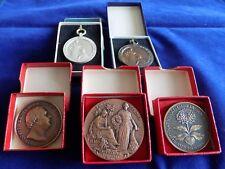 Job Lot Gardening, Horticultural, RHS, 5 Different Medals, 1950/60s (Ref. t0589)