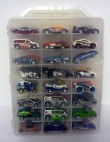 HOT WHEELS 48 CAR CARRY CASE WITH CARS Cops & Robbers Die-Cast Cars
