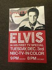 Elvis Presley 1968 Comeback Special Nbc Promo Cardstock Poster 12x18